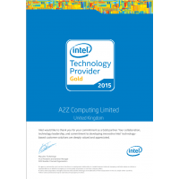 October 2015 : Intel Gold Award